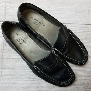Anne Klein Black iflex Loafers size 7 M